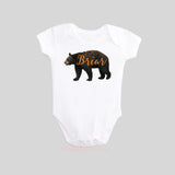 Bear with Personalized Name Shirt Short Sleeve