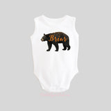 Bear with Personalized Name Shirt Sleeveless Tank
