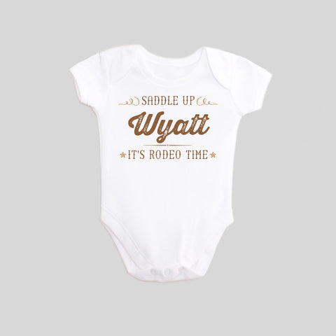 Personalized t shirts for kids Rodeo bodysuit by BubbleGumDish.com