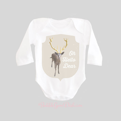 Oh Hello Dear Deer Shirt Long Sleeve