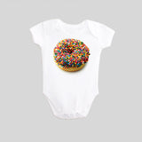 Donut with Sprinkles Long Sleeved Baby Bodysuit by BubbleGumDish