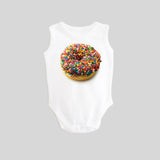 Donut with Sprinkles Sleeveless Tank Baby Bodysuit by BubbleGumDish