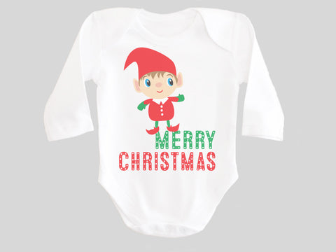 Christmas Elf Baby Bodysuit
