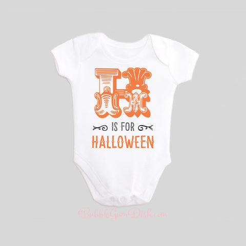 H is for Halloween Shirt