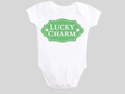 Girl's Lucky Charm St. Patrick's Day Baby Bodysuit