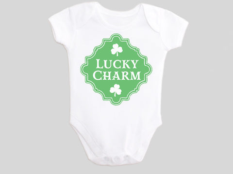 Lucky Charm St. Patrick's Day Baby Bodysuit