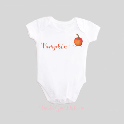 Pumpkin Calligraphy Baby Shirt