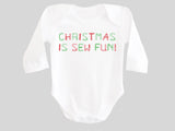 Christmas is Sew Fun Baby Bodysuit