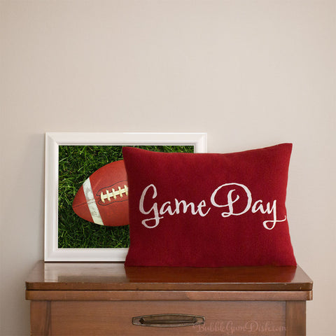 GameDay Embroidered Pillow Cover