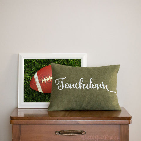 Touchdown Embroidered Pillow Cover