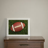 Football on Grass Photography Wall Art Giclee Print