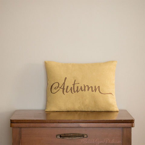 Autumn Embroidered Pillow Cover