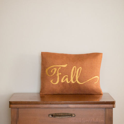 Fall Embroidered Pillow Cover