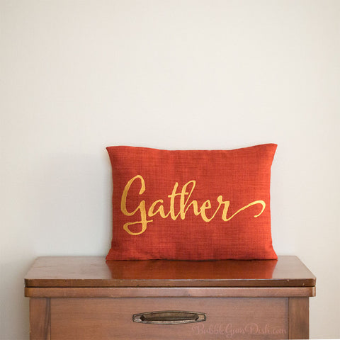 Gather Embroidered Pillow Cover