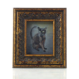 "Binx 1 - Mini Black Cat Fine Art Print - Framed 2.5"" x 3"""