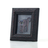 "Binx 3 - Mini Black Cat Fine Art Print - Framed 2.5"" x 3"""