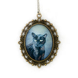 Binx 1 - Black Cat Pendant Necklace