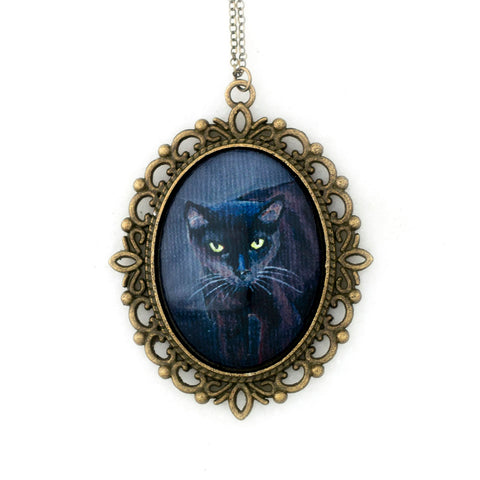 Binx 3 - Black Cat Pendant Necklace