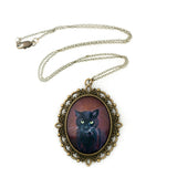Binx 4 - Black Cat Pendant Necklace