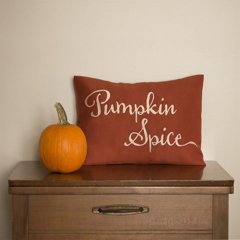 Pumpkin Spice Pillow Cover