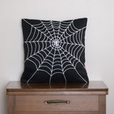Spider Web Pillow Cover - Halloween Decor by BubbleGumDish