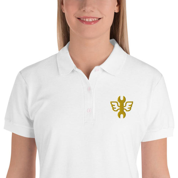 Embroidered Women's Polo Shirt #FreeBikers