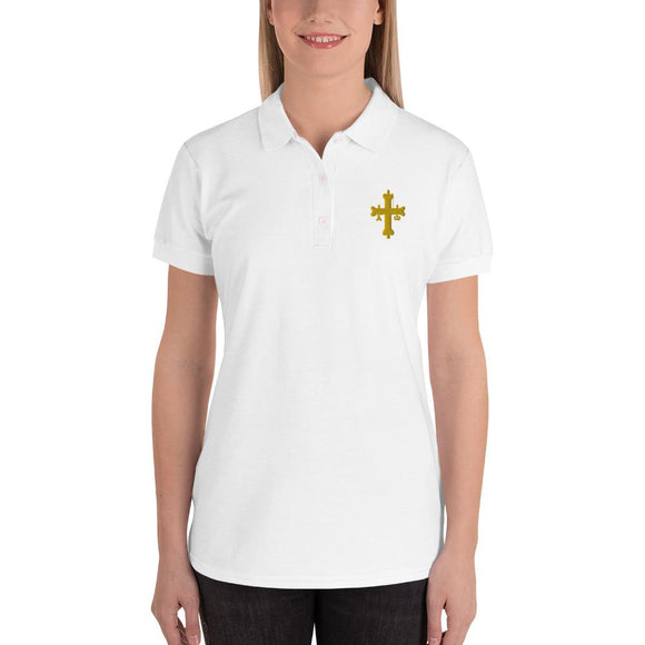 Embroidered Women's Polo Shirt #KNIGHTSTEMPLAR