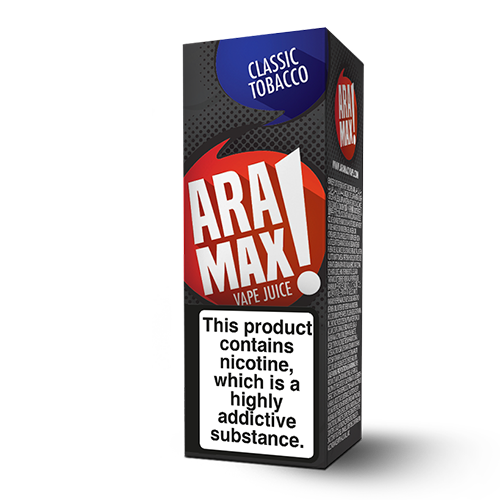 Aramax Liquids - Classic Tobacco (10ml) Cheap Quality Eliquid, Vape Juice. Zapp Vape Cardiff UK. Zapp Ecigs Cardiff UK. 5 for £9.99