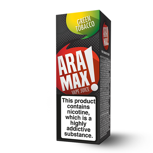 Aramax Liquids - Green Tobacco (10ml) Cheap Quality Eliquid, Vape Juice. Zapp Vape Cardiff UK. Zapp Ecigs Cardiff UK. 5 for £9.99