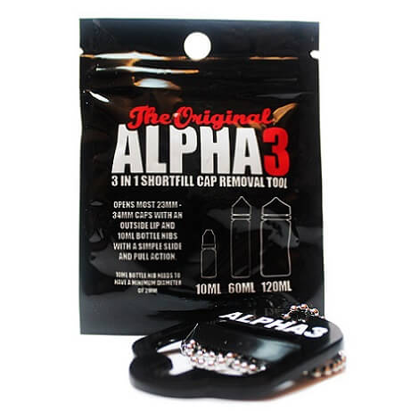 Alpha 3 Shortfill/E-Liquid Bottle Opener