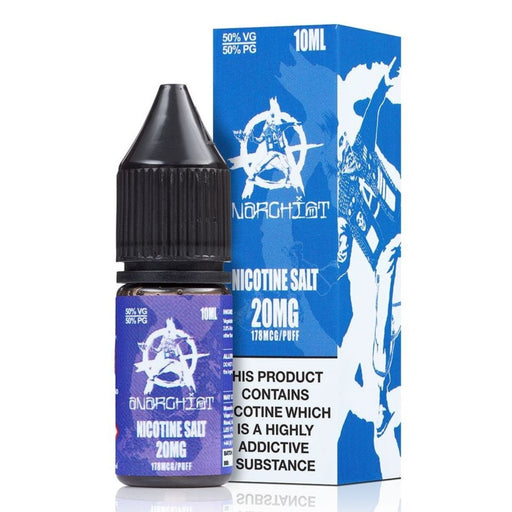 Blue E-Liquid by Anarchist Nic Salt 10ml. 3 for £12.99 - Cheap Quality Eliquid, Vape Juice. Zapp Vape Cardiff UK. Zapp Ecigs Cardiff UK.  E-cigs Cardiff. Vaping Cardiff