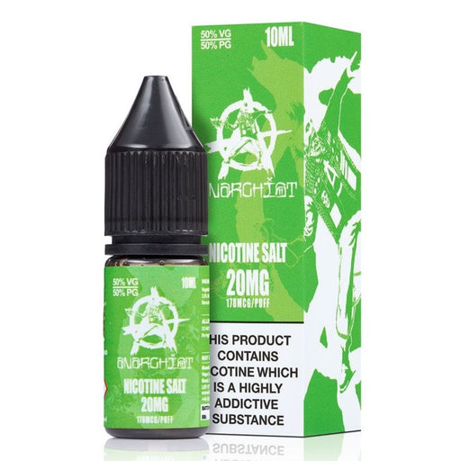 Green E-Liquid by Anarchist Nic Salt 10ml. 3 for £12.99 - Cheap Quality Eliquid, Vape Juice. Zapp Vape Cardiff UK. Zapp Ecigs Cardiff UK.  E-cigs Cardiff. Vaping Cardiff