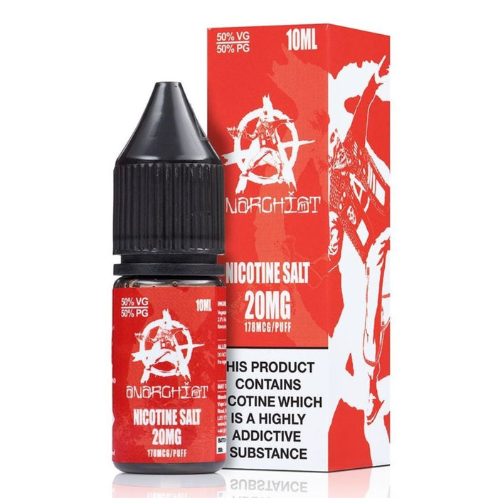 Red E-Liquid by Anarchist Nic Salt 10ml. 3 for £12.99 - Cheap Quality Eliquid, Vape Juice. Zapp Vape Cardiff UK. Zapp Ecigs Cardiff UK.  E-cigs Cardiff. Vaping Cardiff