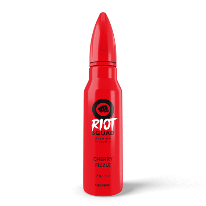 Cherry Fizzle Eliquid 50ml By Riot Squad (Nicotine not included)  - Cheap Quality Eliquid, Vape Juice. Zapp Vape Cardiff UK. Zapp Ecigs Cardiff UK.  E-cigs Cardiff. Vaping Cardiff