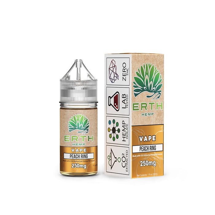 ERTH CBD 250mg  - Peach Ring | Vape Juice 30ml