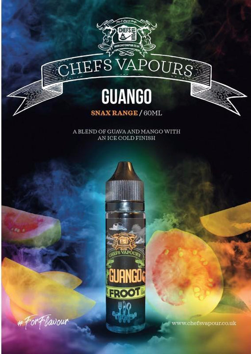 Guango 50ml E-liquid By Chefs Vapour (Nicotine not included) Zapp E-cigs Vape. Cardiff, UK.   - Cheap Quality Eliquid, Vape Juice. Zapp Vape Cardiff UK. Zapp Ecigs Cardiff UK.  E-cigs Cardiff. Vaping Cardiff