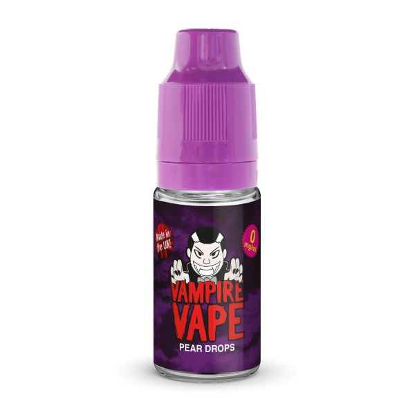 Pear Drops 10ml By Vampire Vape. Any 5 for £14.99