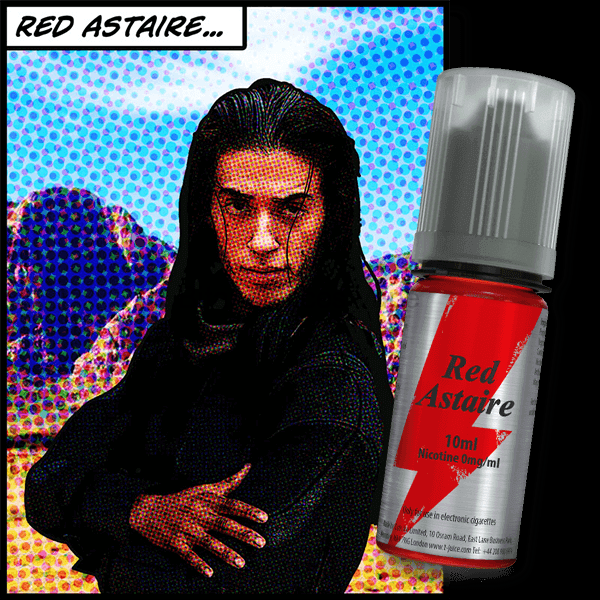 Red Astaire Nic Salt 10ml By T-Juice. Cheap Quality Eliquid, Vape Juice. Zapp Vape Cardiff UK. Zapp Ecigs Cardiff UK.  E-cigs Cardiff