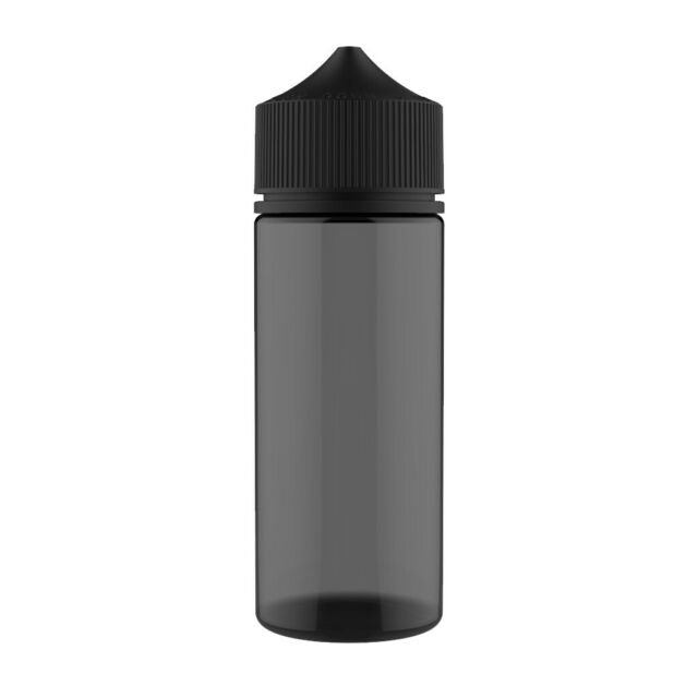Empty 120ml PET E-Liquid Bottles By Chubby Gorilla (Black)