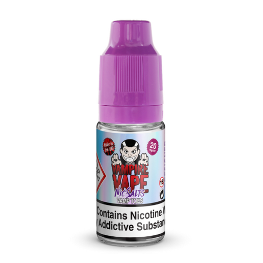 Vamptoes Nic Salt 10ml By Vampire Vape.  5 for £14.99 - Cheap Quality Eliquid, Vape Juice. Zapp Vape Cardiff UK. Zapp Ecigs Cardiff UK.  E-cigs Cardiff. Vampire Vape Cardiff