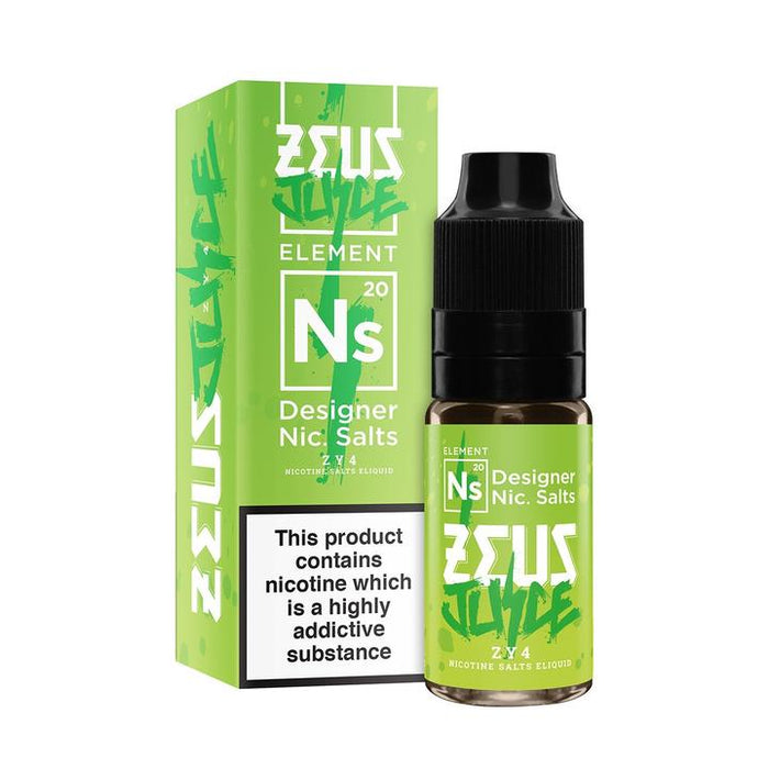ZY4 Nic Salt (10ml)  By Zeus Juice. 3 for £12.99 - Cheap Quality Eliquid, Vape Juice. Zapp Vape Cardiff UK. Zapp Ecigs Cardiff UK.  E-cigs Cardiff. Zeus Juice Cardiff