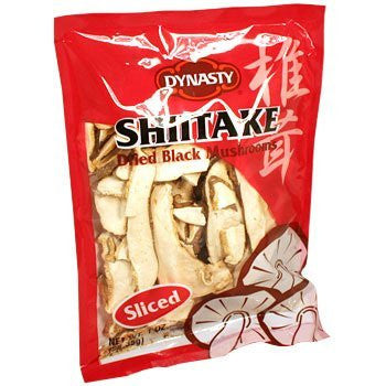 Dynasty Shiitake Dried Black Mushrooms - Sliced