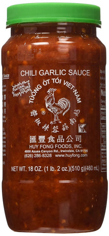 Huy Fong Chili Garlic Sauce, 18 oz. - Pacific Rim Gourmet