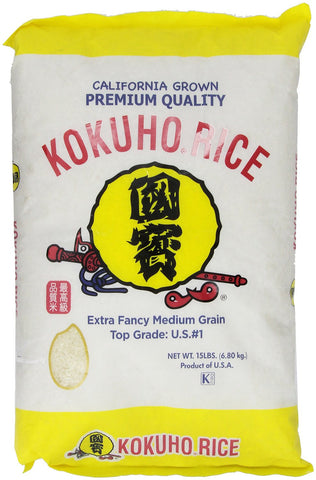 Kokuho Calrose Rice Yellow, 15 lb.