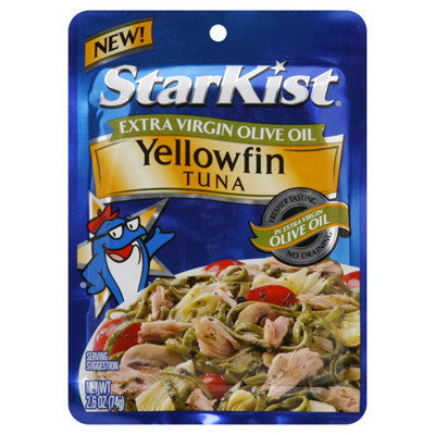 Yellowfin Tuna in Extra Virgin Olive Oil (Pouch)