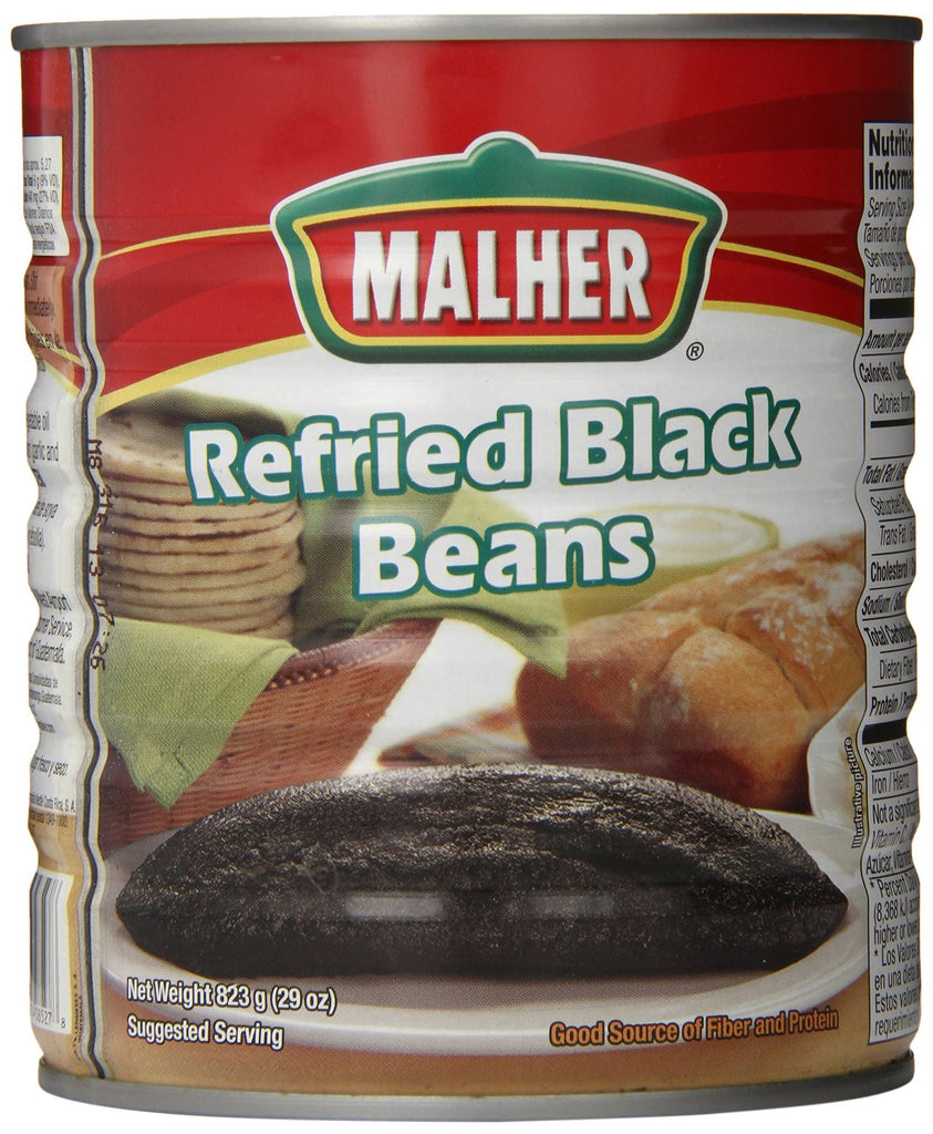 Refried Black Beans - 29 ounces