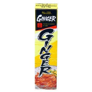 S&B Prepared Ginger in Tube - Pacific Rim Gourmet
