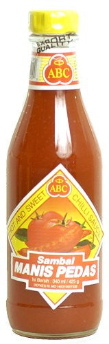 ABC Indonesian Sambal Manis Pedis - Hot & Sweet Chili Sauce - Pacific Rim Gourmet