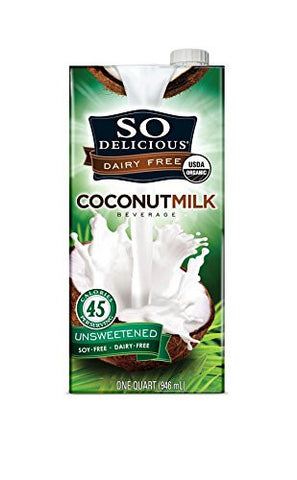 So Delicious Dairy Free Organic Coconut Milk, Unsweetened