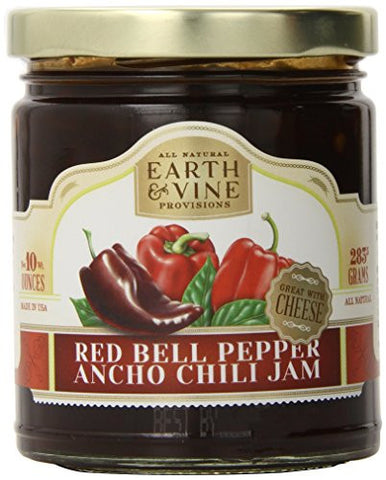 Earth & Vine Provisions Red Bell Pepper & Ancho Chili Jam - Pacific Rim Gourmet